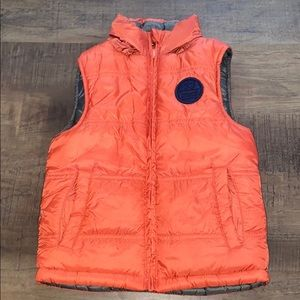 Reversible Vest with Tuckaway Hood